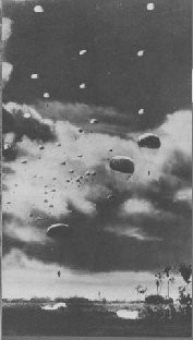 Japanese paratroopers over Menado, 1942