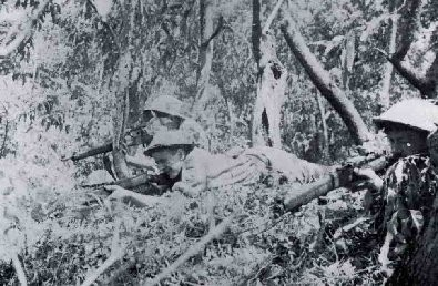 The Australian soldiers in ambush, the Portuguese East Timor, 1942